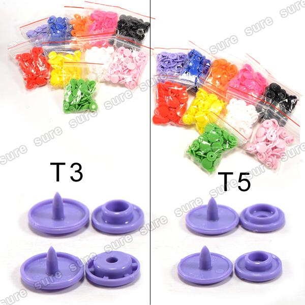 Kam 300pcs bouton pression 10 couleurs t5 12mm t3 10mm lot de pince - Poser un bouton pression ...