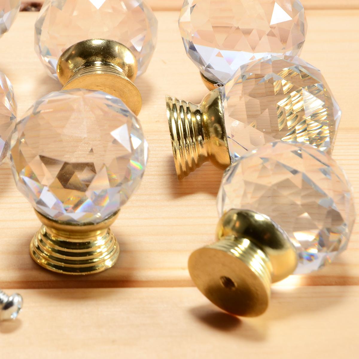 8 pomos tiradores para cajones puertas armarios del cristal transparente ebay - Tiradores para cajones ...