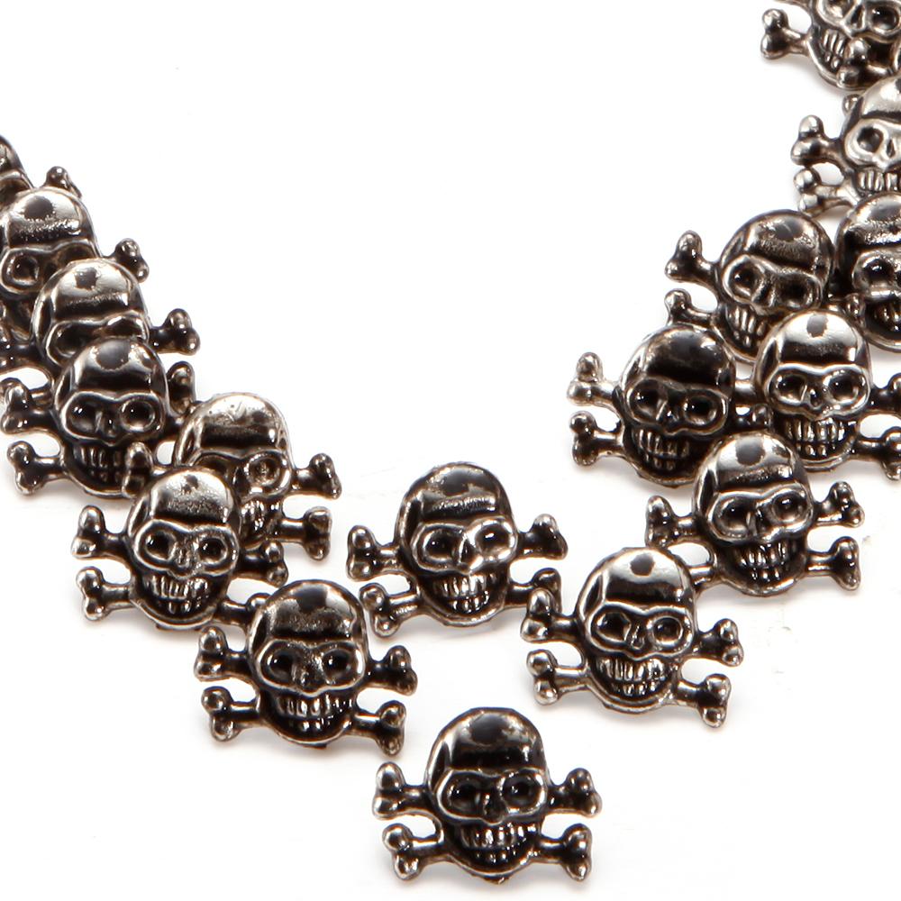 50pcs metal skull rivets leather jewelry punk crafts for Rivets for leather jewelry