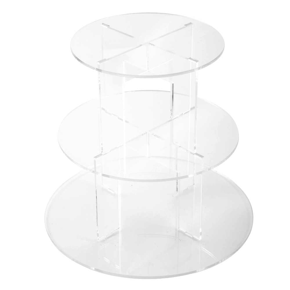 3 etages pr sentoir g teau acrylique support stand mariage. Black Bedroom Furniture Sets. Home Design Ideas