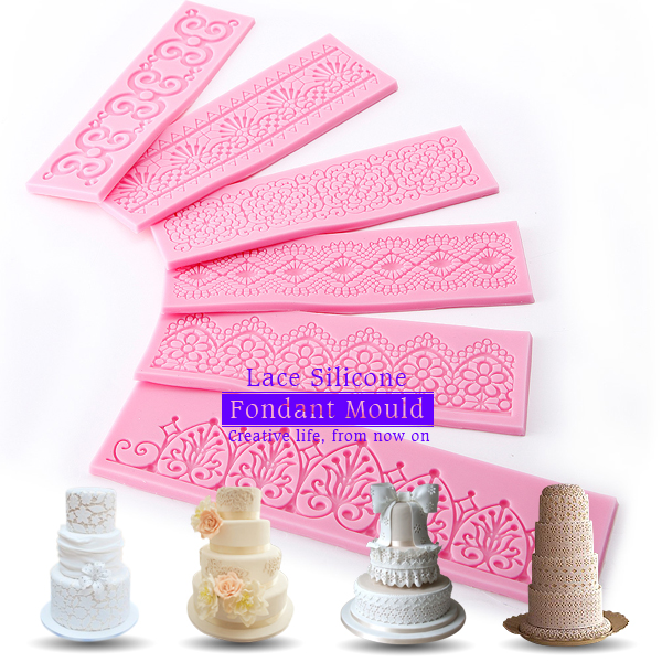 Wedding Cake Decoration Molds : Lace Silicone Fondant Mold Mould Wedding Cake Decoration ...