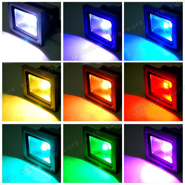 10w rgb strahler farbig led fluter flutlicht licht lampe beleuchtung au en innen ebay. Black Bedroom Furniture Sets. Home Design Ideas