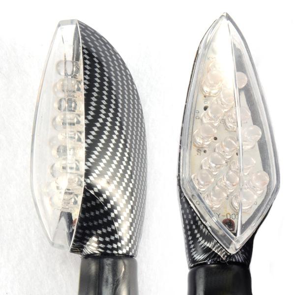 4 x 16 led12v mini blinker motorrad lichter quad roller lampe carbon ebay. Black Bedroom Furniture Sets. Home Design Ideas
