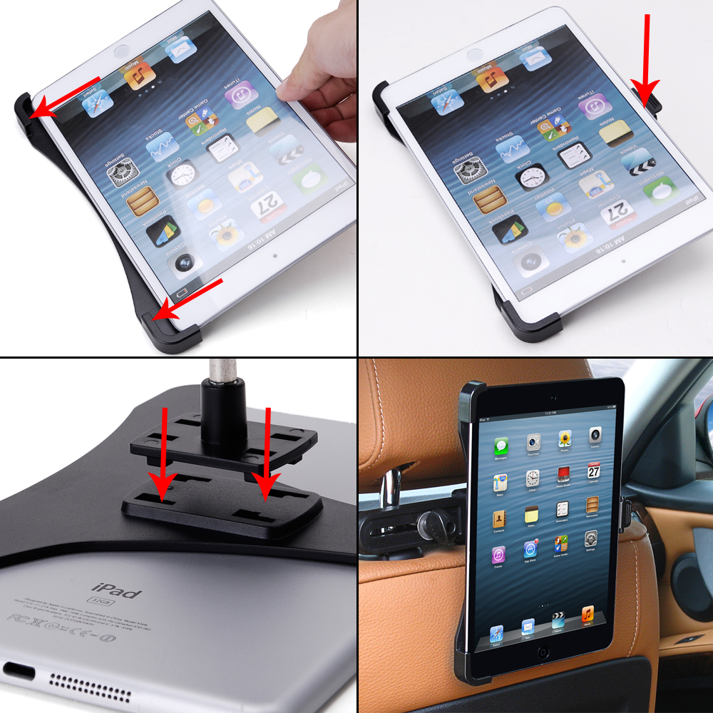 kfz halterung kopfst tzen auto halter autohalterung f r apple ipad mini 2 ebay. Black Bedroom Furniture Sets. Home Design Ideas