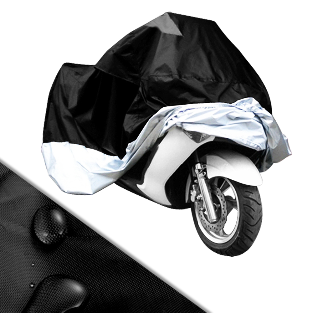 motorradabdeckung motorrad garage 180d polyester abdeckplane 265x105x125cm xxl ebay. Black Bedroom Furniture Sets. Home Design Ideas
