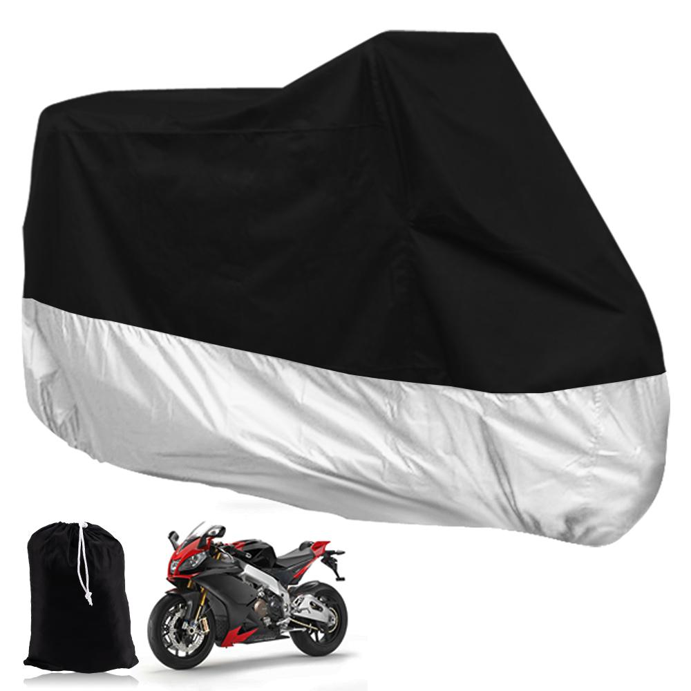 Housse moto grande taille xxxl noir argente protection for Bache moto exterieur
