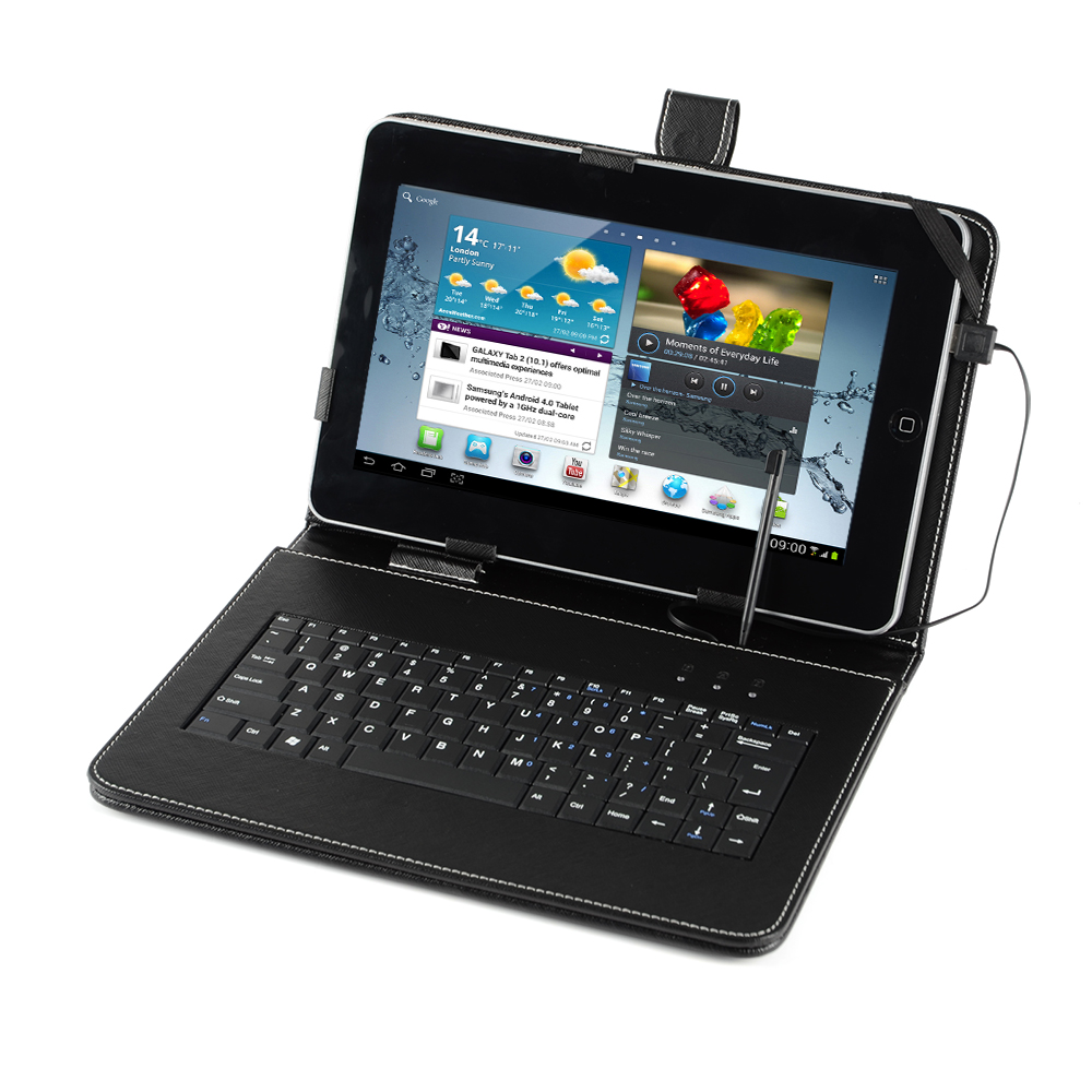 f r 7 zoll epad tablet pc tasche mit usb tastatur keyboard schutztasche ebay. Black Bedroom Furniture Sets. Home Design Ideas