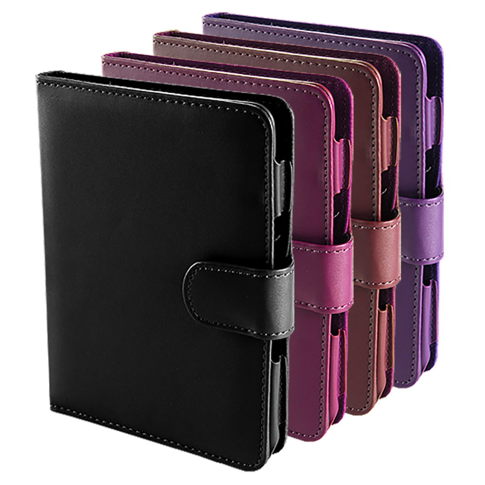BLACK/PURPLE LEATHER CASE COVER PROTECTOR FOR NEW AMAZON