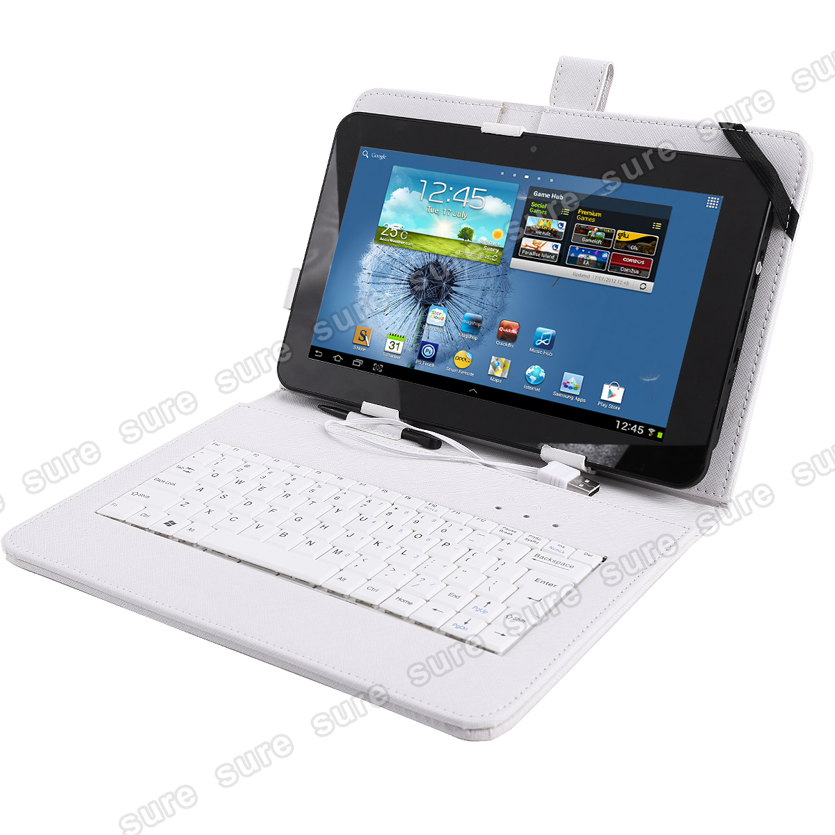 tasche case mit tastatur f r 10 zoll tablet pc usb micro. Black Bedroom Furniture Sets. Home Design Ideas