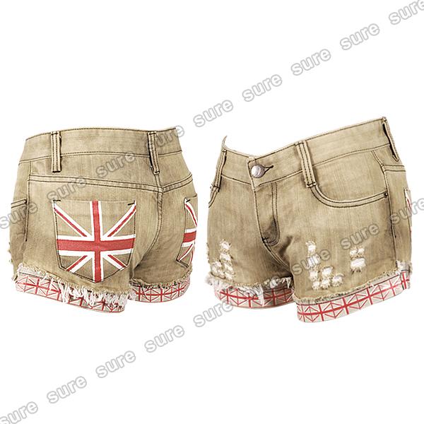 shorts en jean pour femme drapeau anglais americain usa london 5 styles m l. Black Bedroom Furniture Sets. Home Design Ideas