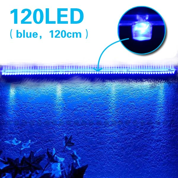 120 led aquarium mondlicht beleuchtung lampe blau neu ebay. Black Bedroom Furniture Sets. Home Design Ideas