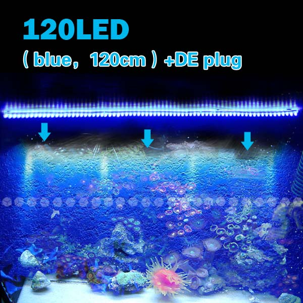 120 led aquarium mondlicht beleuchtung lampe blau neu ebay. Black Bedroom Furniture Sets. Home Design Ideas