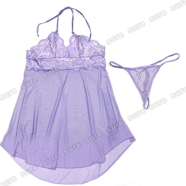 Sexy-Dessous-Set-Babydoll-Negligee-Kleid-Nachtkleid-Reizwaesche-von-Anladia