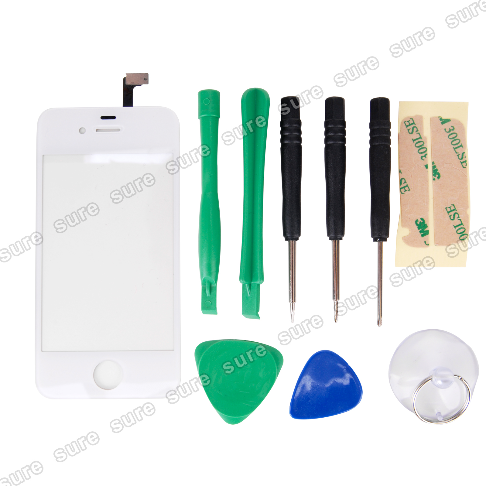 Front-Touch-Glass-Screen-Replacement-Repair-For-Apple-iPhone-4-Tool-kits-White