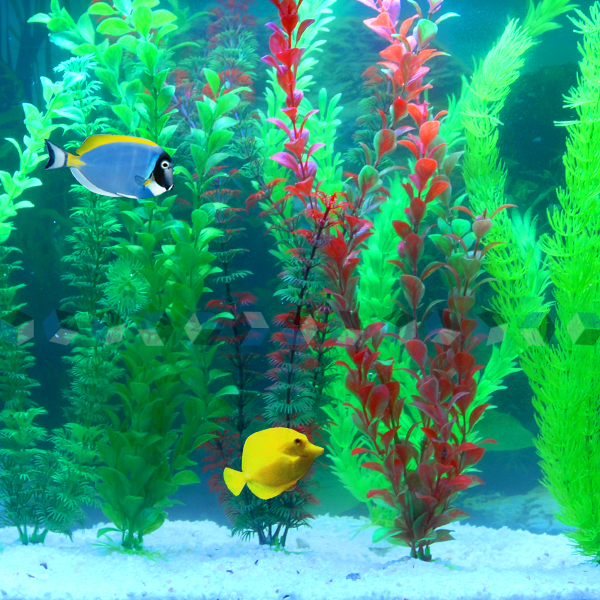 Details about Lot 7 pcs Plastic Aquarium Plants Fish Tank Ornament UK