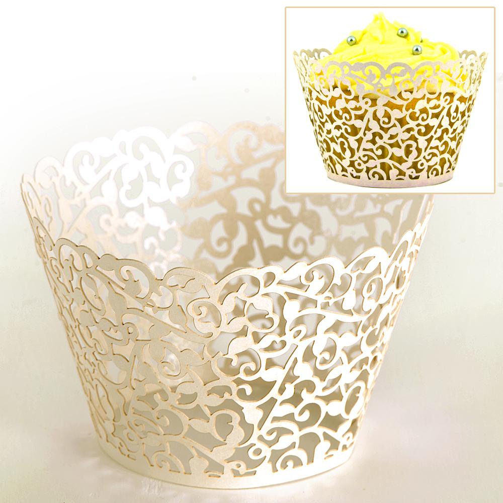 Muffin h llen cupcake wrapper dekoration hochzeit party ebay - Dekoration muffins ...