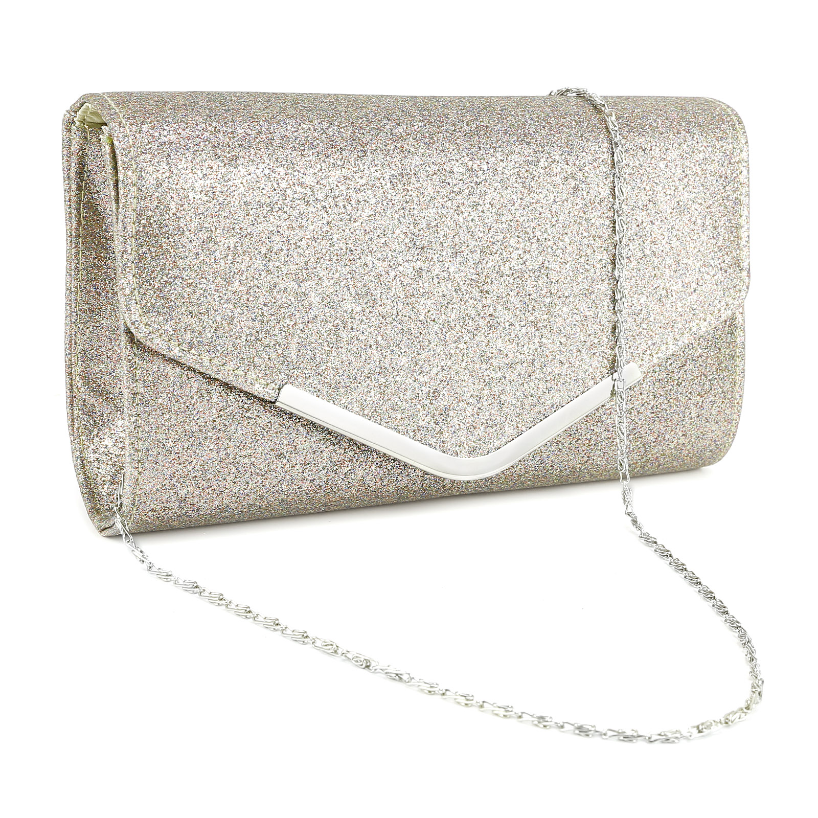 Womens Ladies Suede Velvet Envelope Clutch Bag Shoulder ...