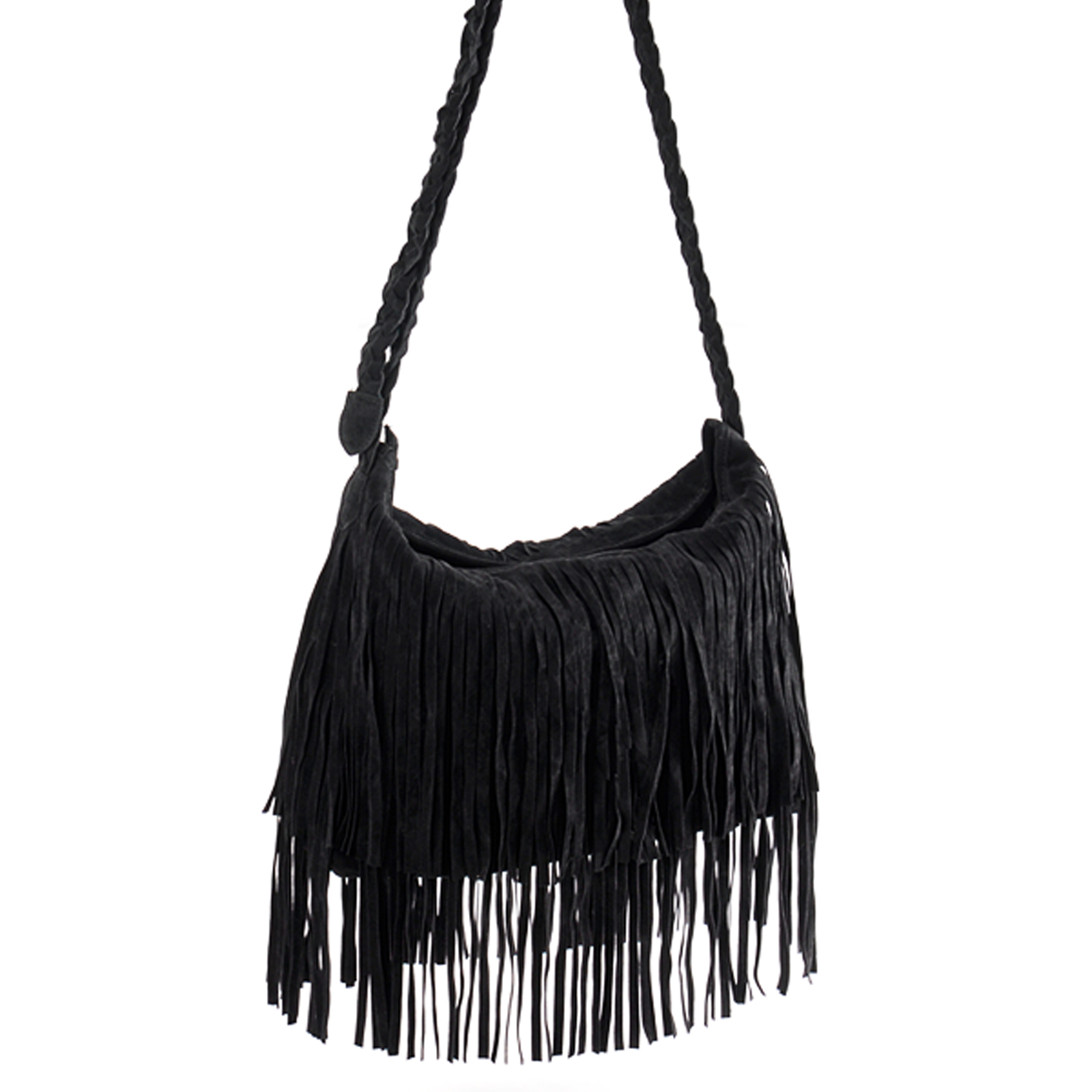 New Black Celebrity Fringe Tassel Shoulder Messenger Bag ...