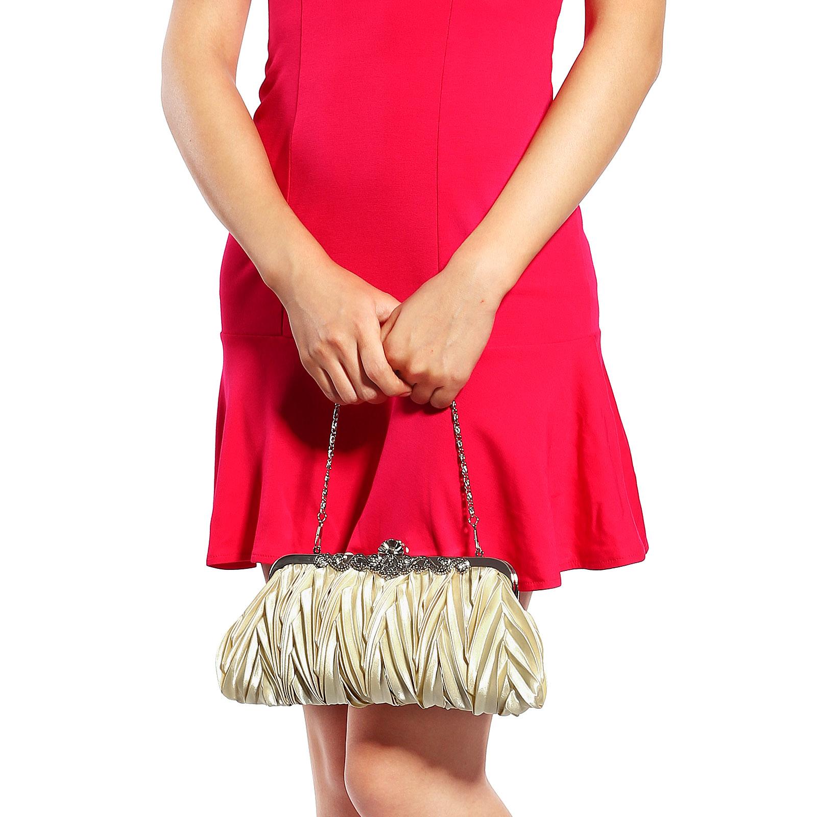 schicke krone damen clutch tasche hochzeit brauttasche party handtasche ebay. Black Bedroom Furniture Sets. Home Design Ideas