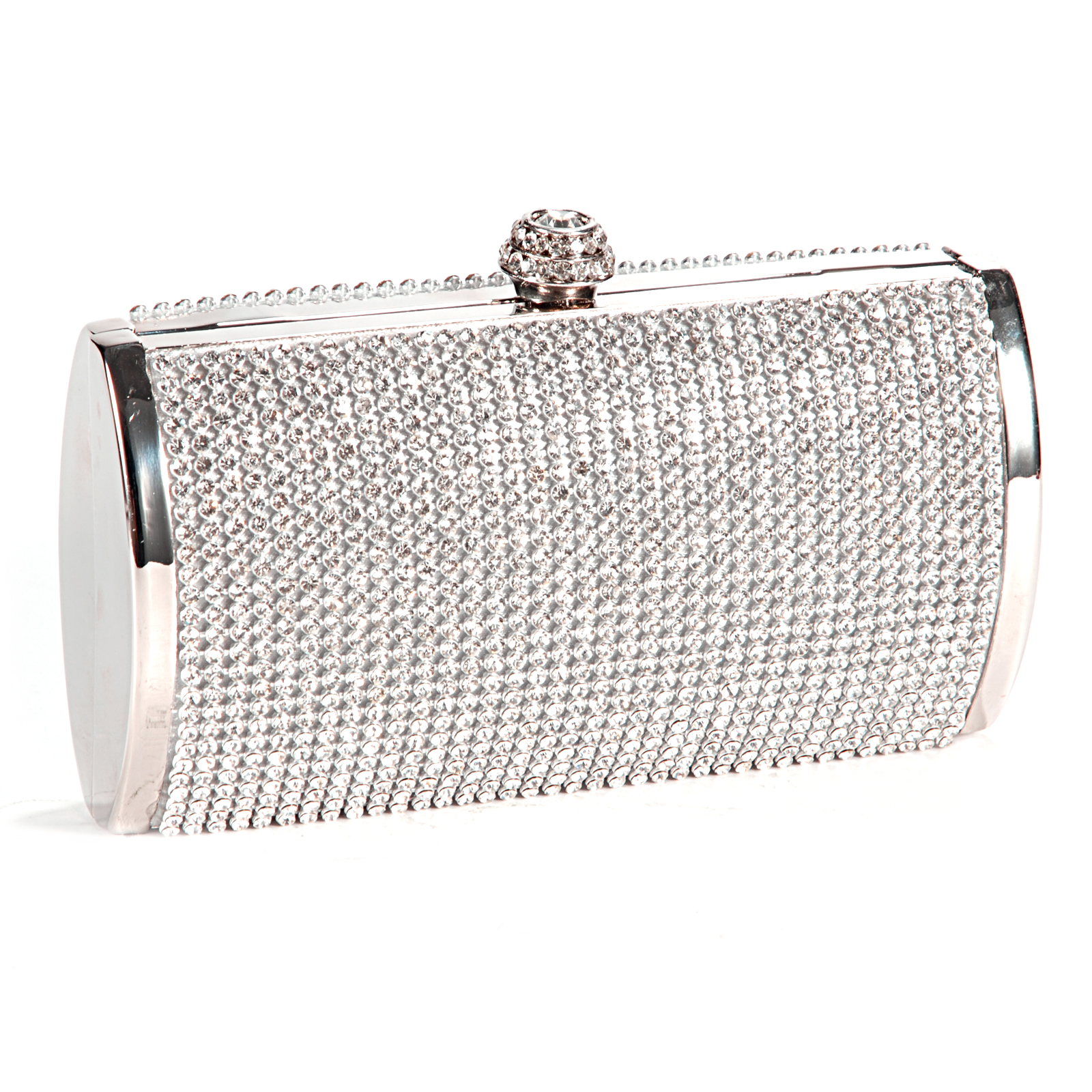 Silver Sparkly Diamante Crystal Evening Clutch Bag Wedding Bridal Prom Handbag | EBay