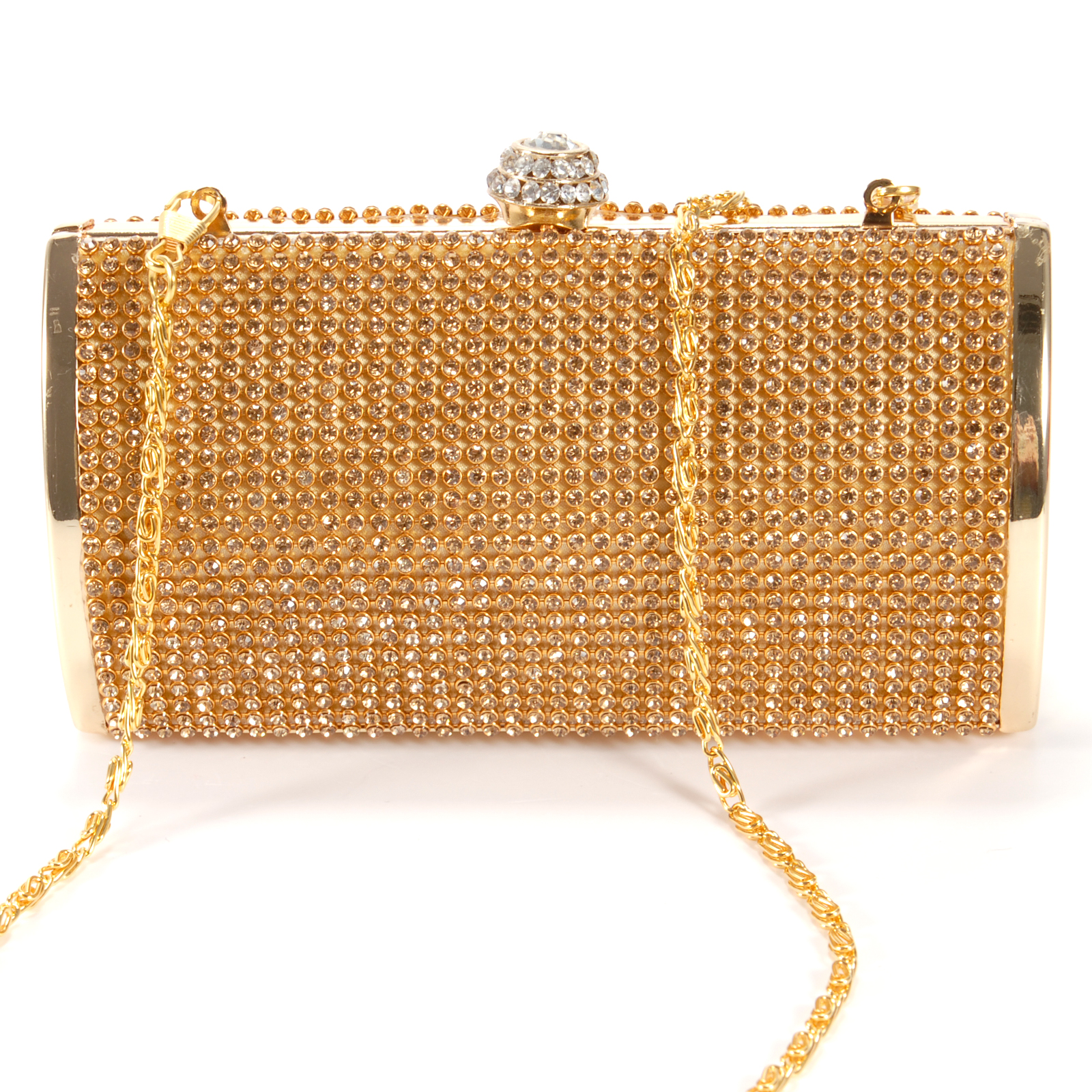Gold Diamante Diamond Crystal Stone Evening bag Clutch ...  Formal Gold Clutches