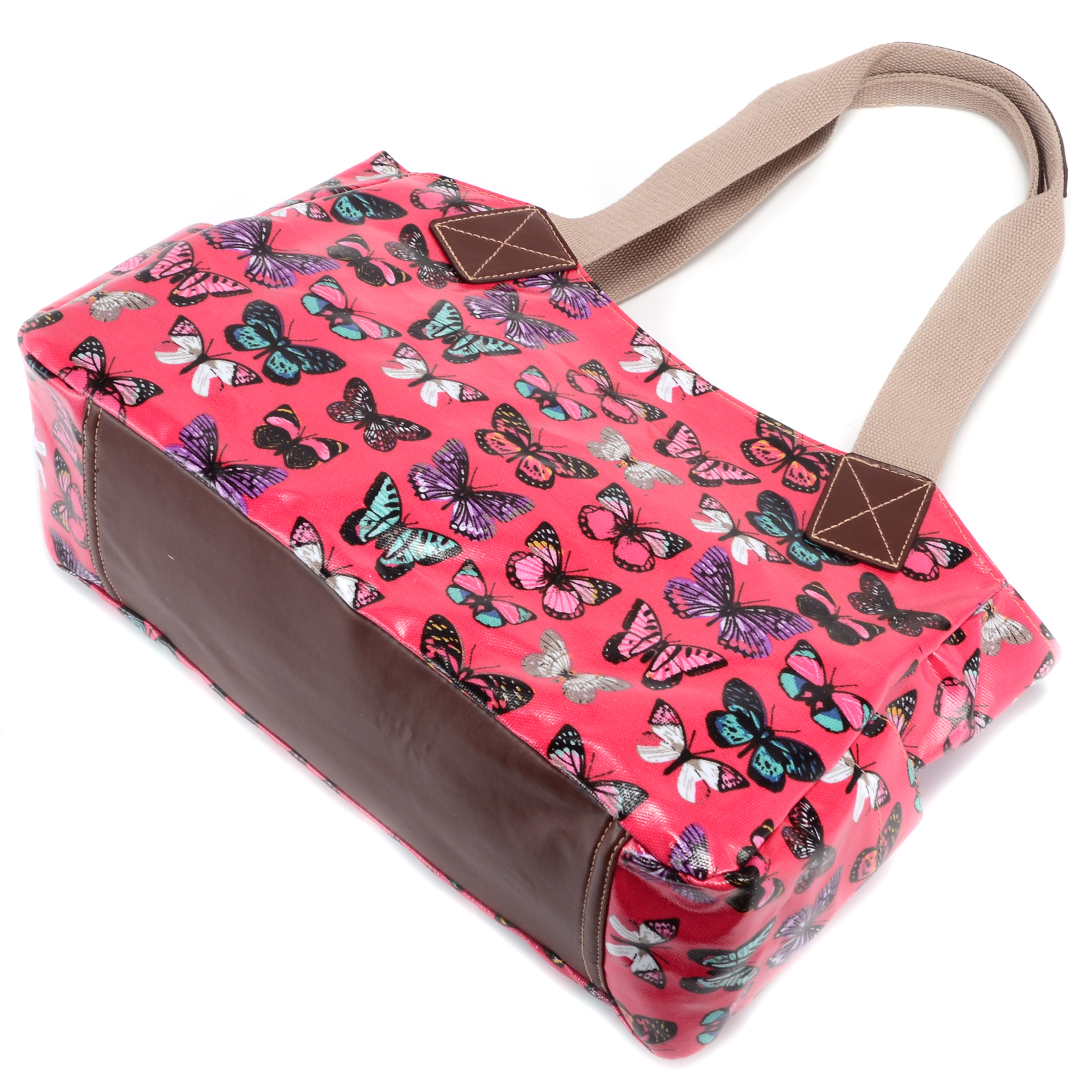 Womens butterfly print designer oilcloth shoulder bag tote for Au maison oilcloth uk
