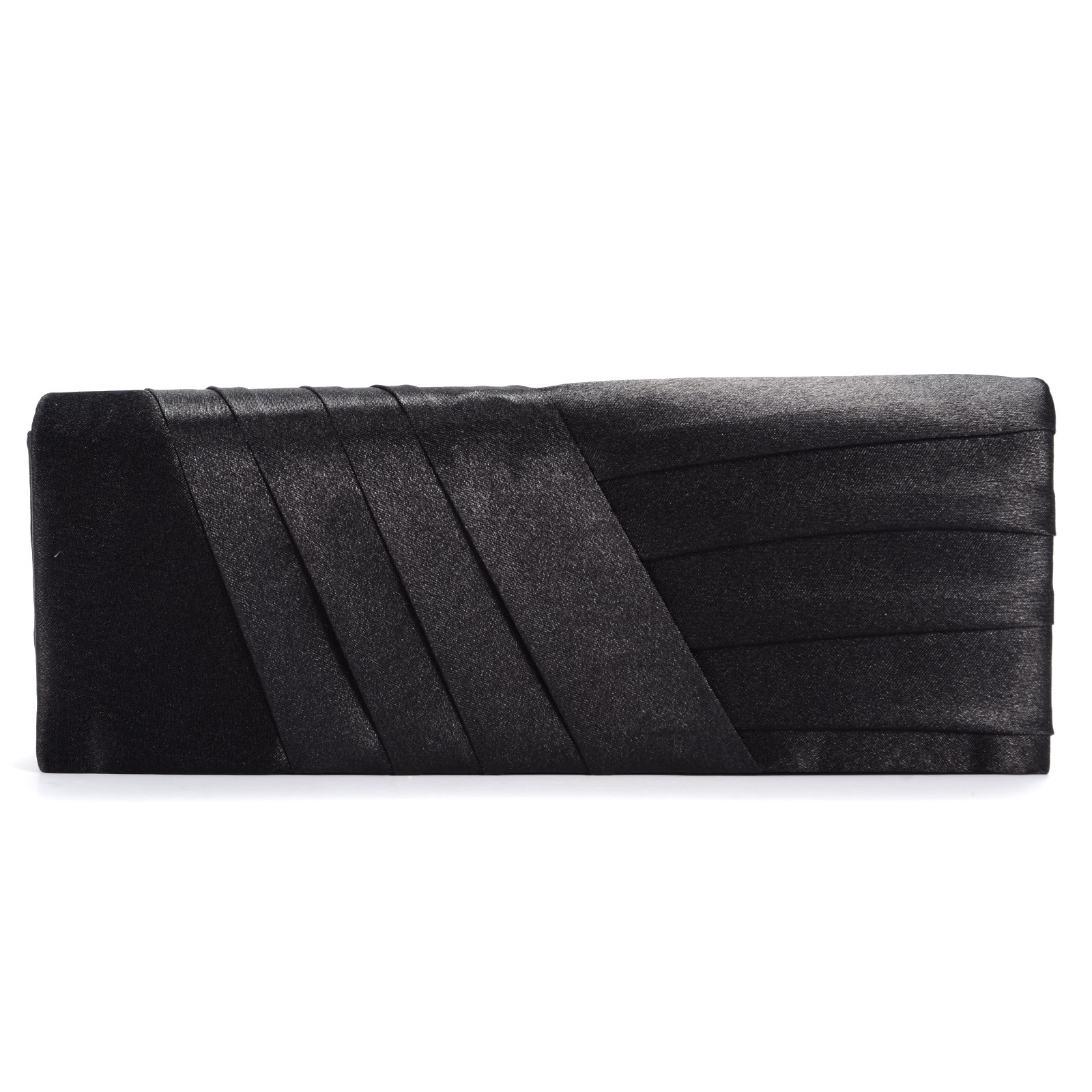 Black Satin Evening Prom Clutch Bag Bridal Wedding Handbag Purse | EBay