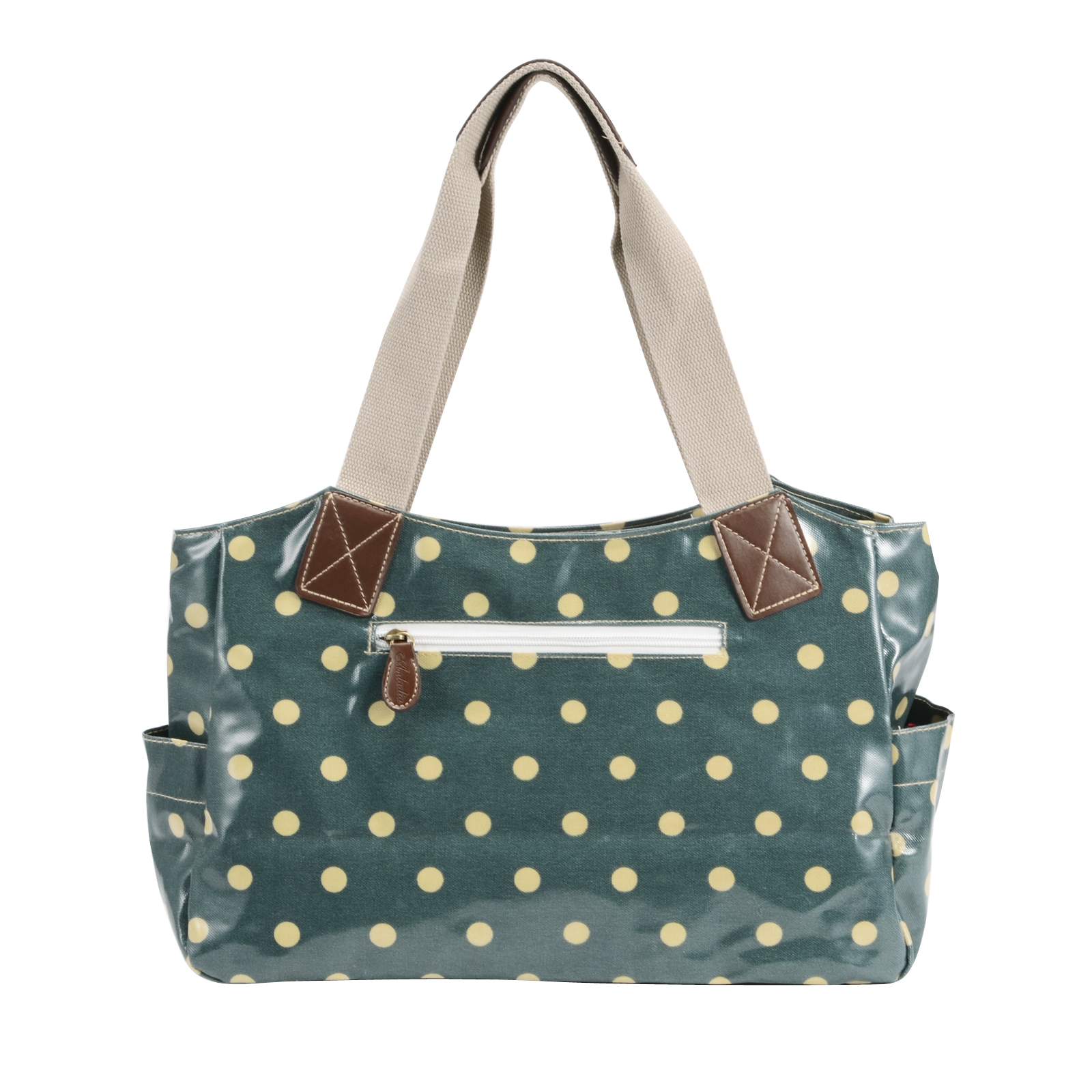 Green oilcloth shoulder bag for Au maison oilcloth uk