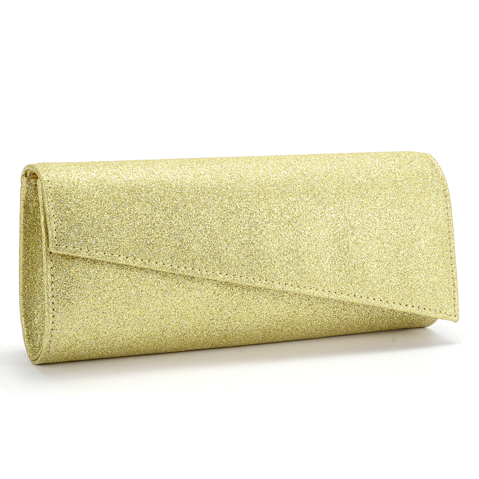 Women Metallic Leathr Shiny Rose Gold Ladies Evening Party ...  Formal Gold Clutches
