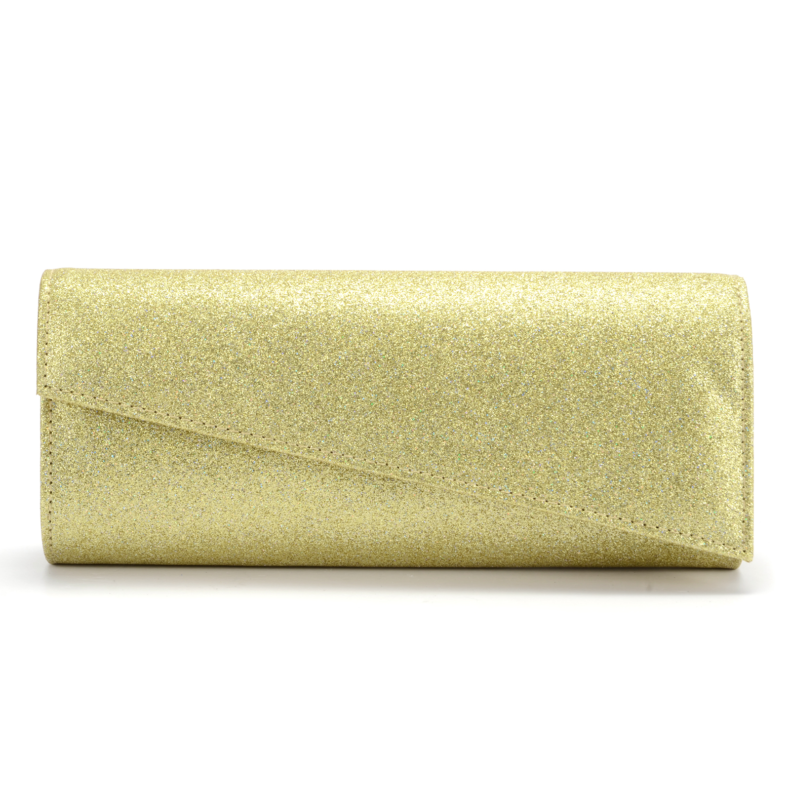 Black and Gold confetti Evening Clutch from Vivien of Holloway  Formal Gold Clutches