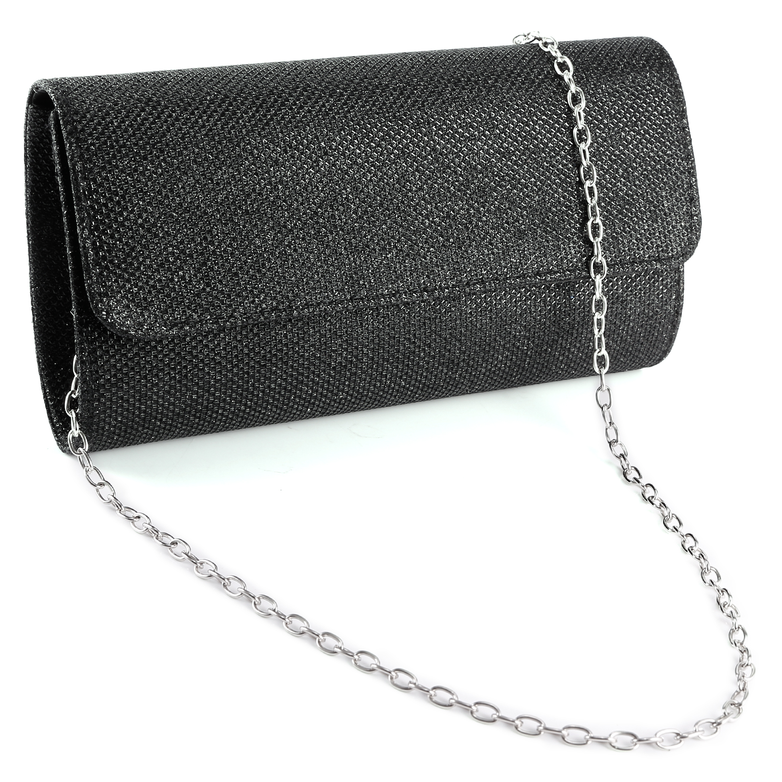 Small Evening Party Clutch Bag Wedding Purse Handbag Silver Gold Chain Tote | EBay