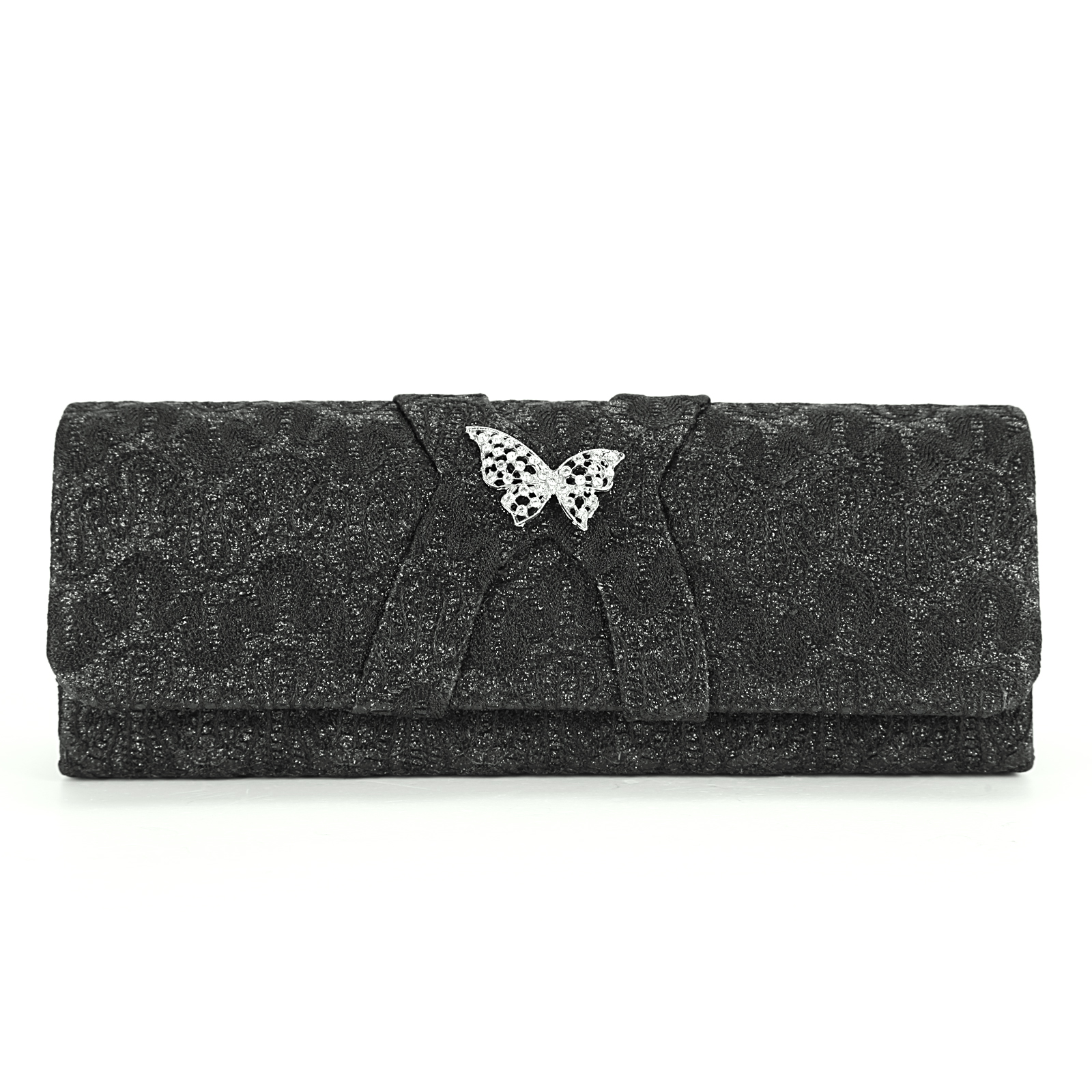 Glitter Floral Satin Lace Wedding Evening Party Clutch Bag Purse Butterfly | EBay