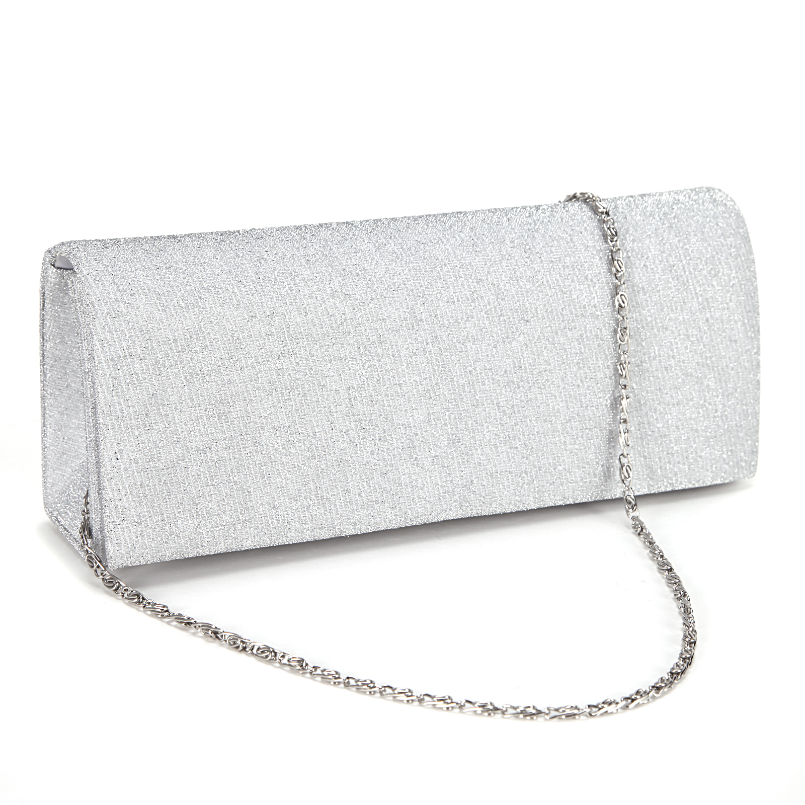 Shimmery Glitter-Tone Fine Lines Women Clutch Hand Carry Bag ...