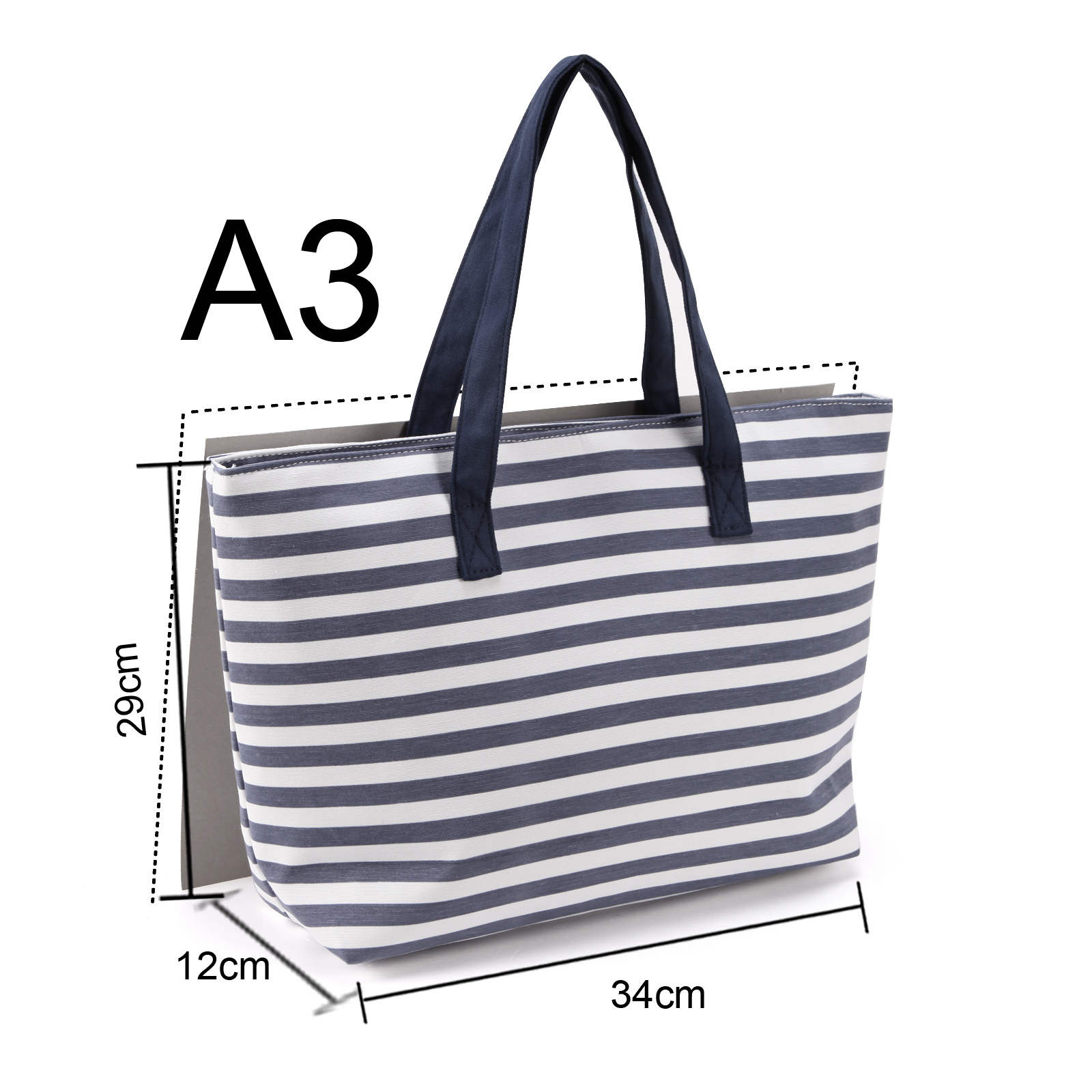 Stripes designer canvas summer beach shoulder bag tote for Designer beach bags and totes