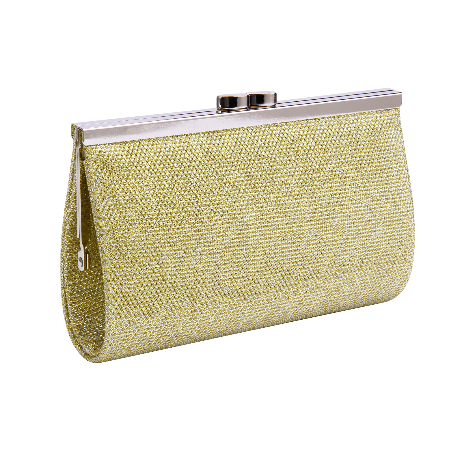 Satin Ladies Evening Clutch Wedding Clutch Womens Silver ...