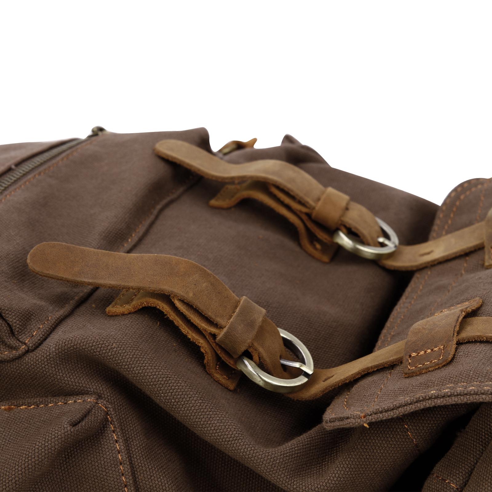 sac dos hommes femme toile vintage randonn e voyage cartable militaire 20l ebay. Black Bedroom Furniture Sets. Home Design Ideas