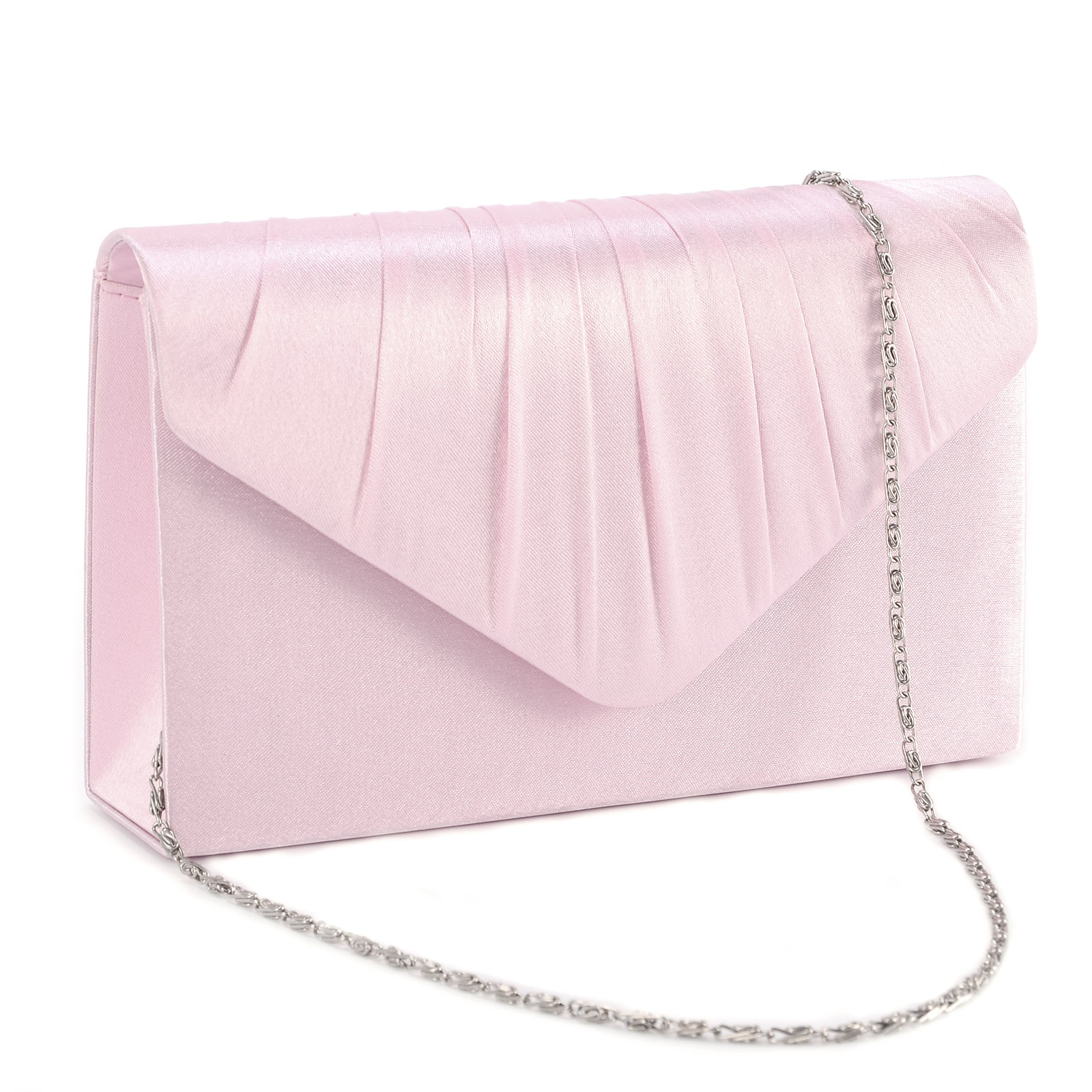 Ladies Satin Evening Clutch Bag Women Bag Purse Wedding Party Bridal Handbag | EBay