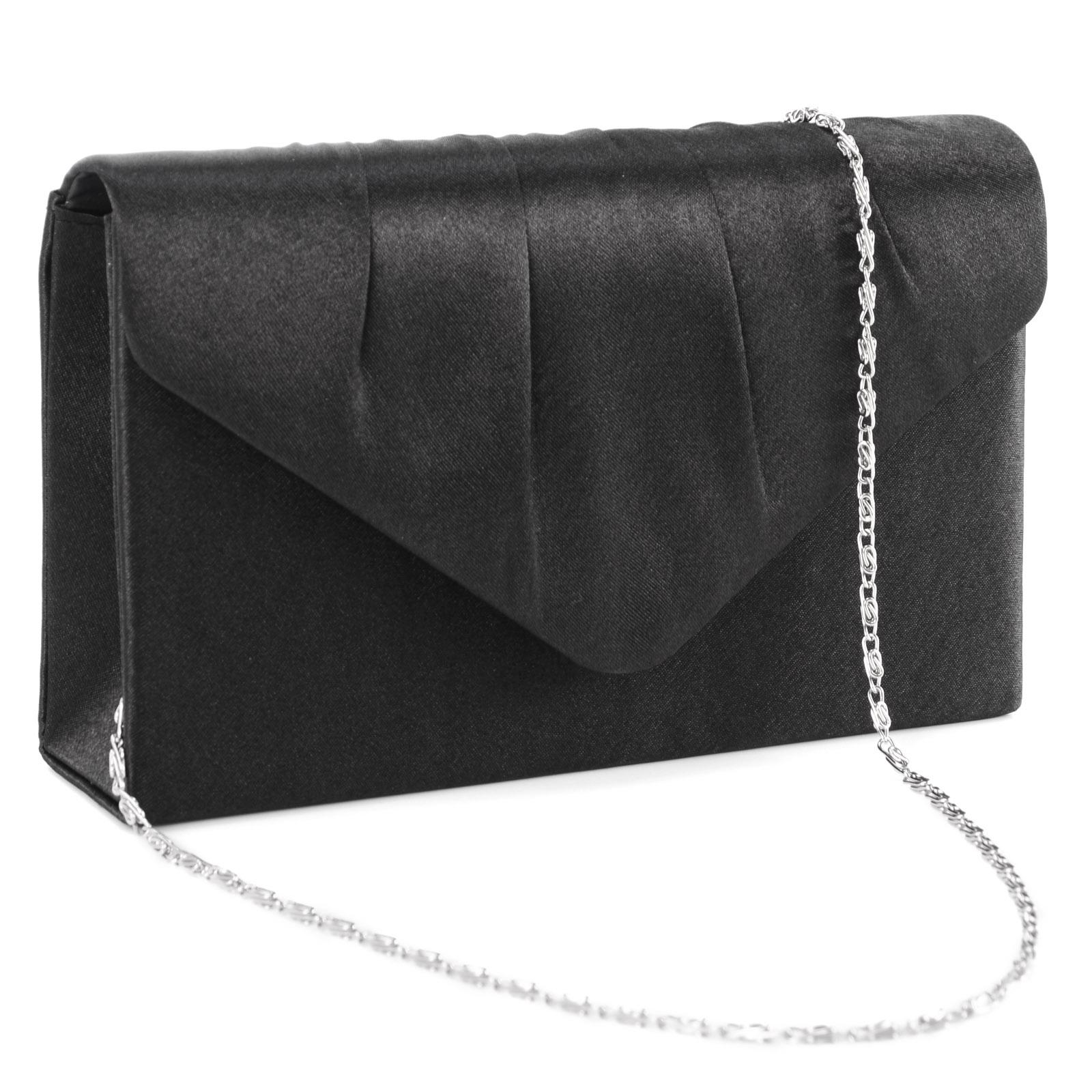 Ladies Satin Evening Clutch Bag Women Bag Purse Wedding Party Bridal Handbag | EBay