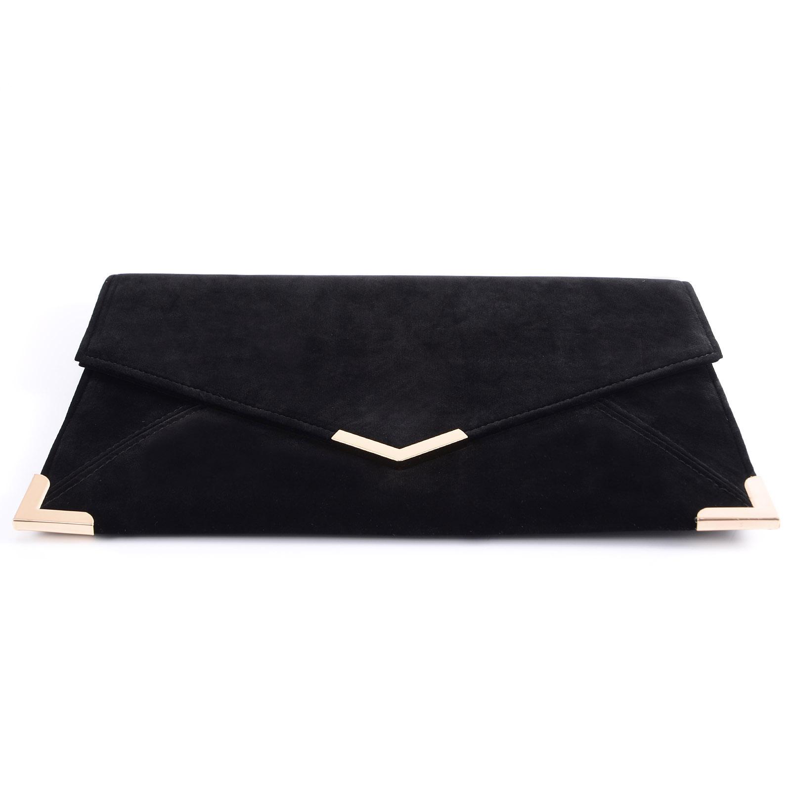 Velours Pochette Mariage Soiree Sac À Main Enveloppe Chaine Bandouliere Velvet Clutch Bag lVAw0C