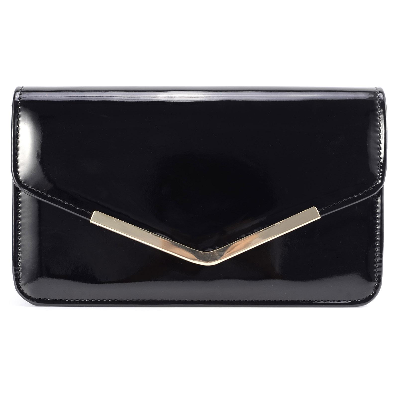 Enveloppe pochette embrayage sac main epaule cha ne - Pochette rangement pour sac a main ...