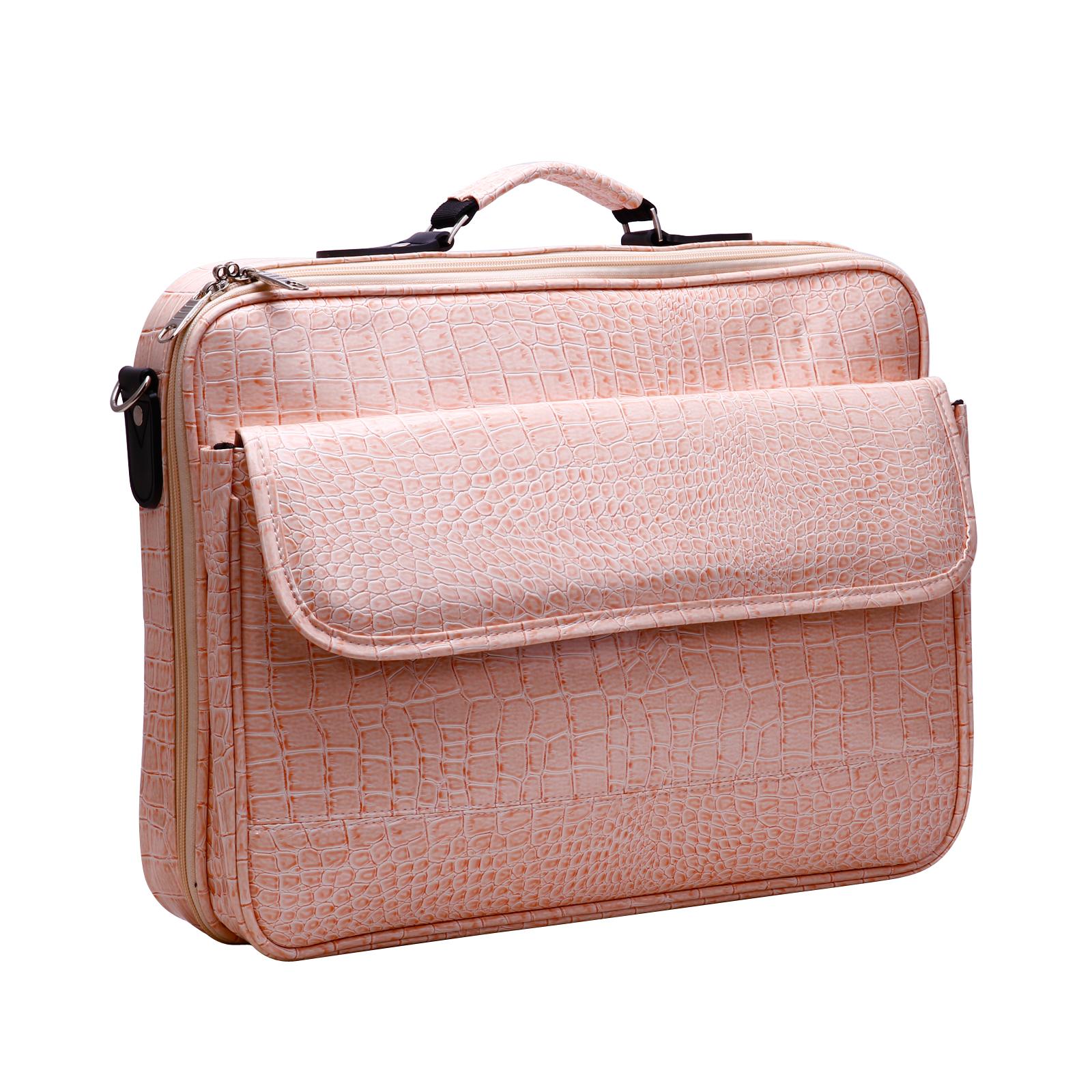 surelaptop baby pink crocodile print laptop case bag. Black Bedroom Furniture Sets. Home Design Ideas