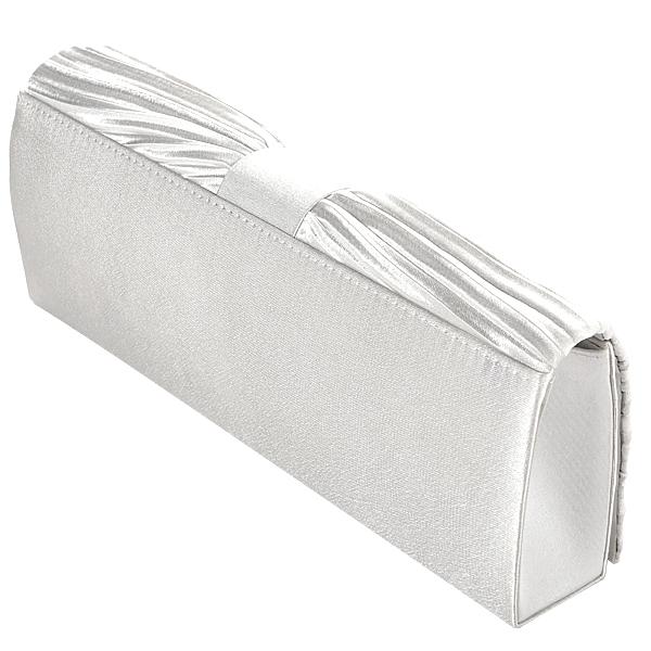 Ivory White SATIN CRYSTAL PLEATED Evening Party CLUTCH Bag WEDDING Handbag Purse   EBay