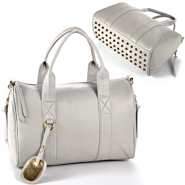 Studded Bottom Handbag - HandBags 2018