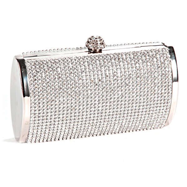 Luxus-Strass-Krone-Damen-Tasche-Clutch-Handtasche-Abendtasche-Brauttasche-Kette