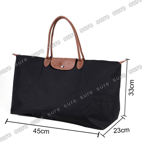 faltbare damen nylon shopping shopper tasche handtasche schultertasche ebay. Black Bedroom Furniture Sets. Home Design Ideas