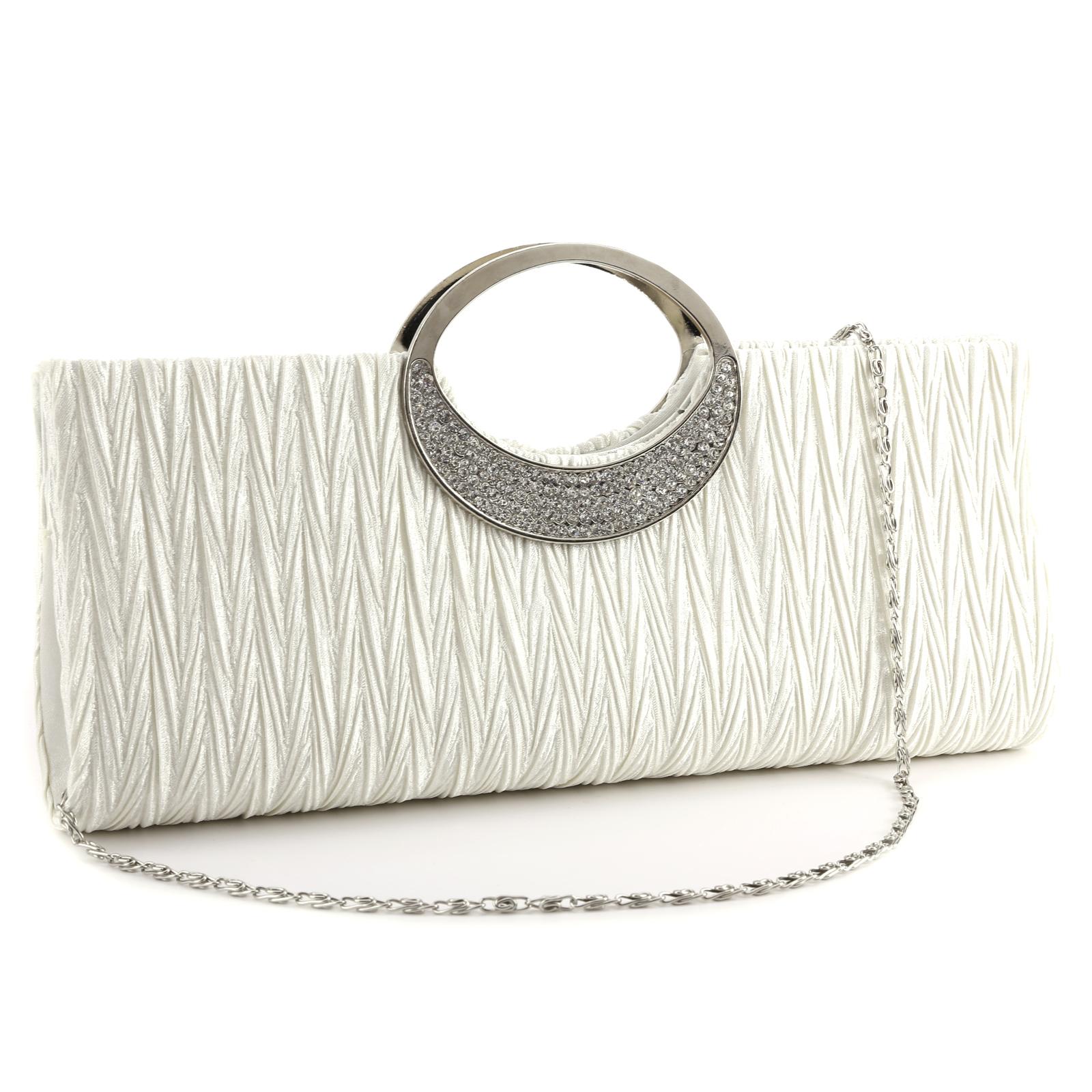 Luxus-Abendtasche-Handtasche-Brauttasche-Hochzeit-Satin-Clutch-Damentasche-Party