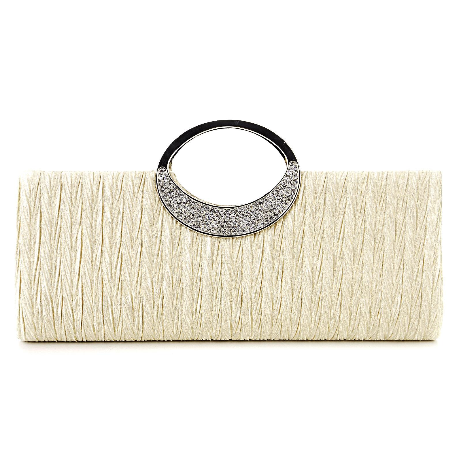 Clutch purse with ring handle : Big ring ladies purse bridal handbag evening clutch