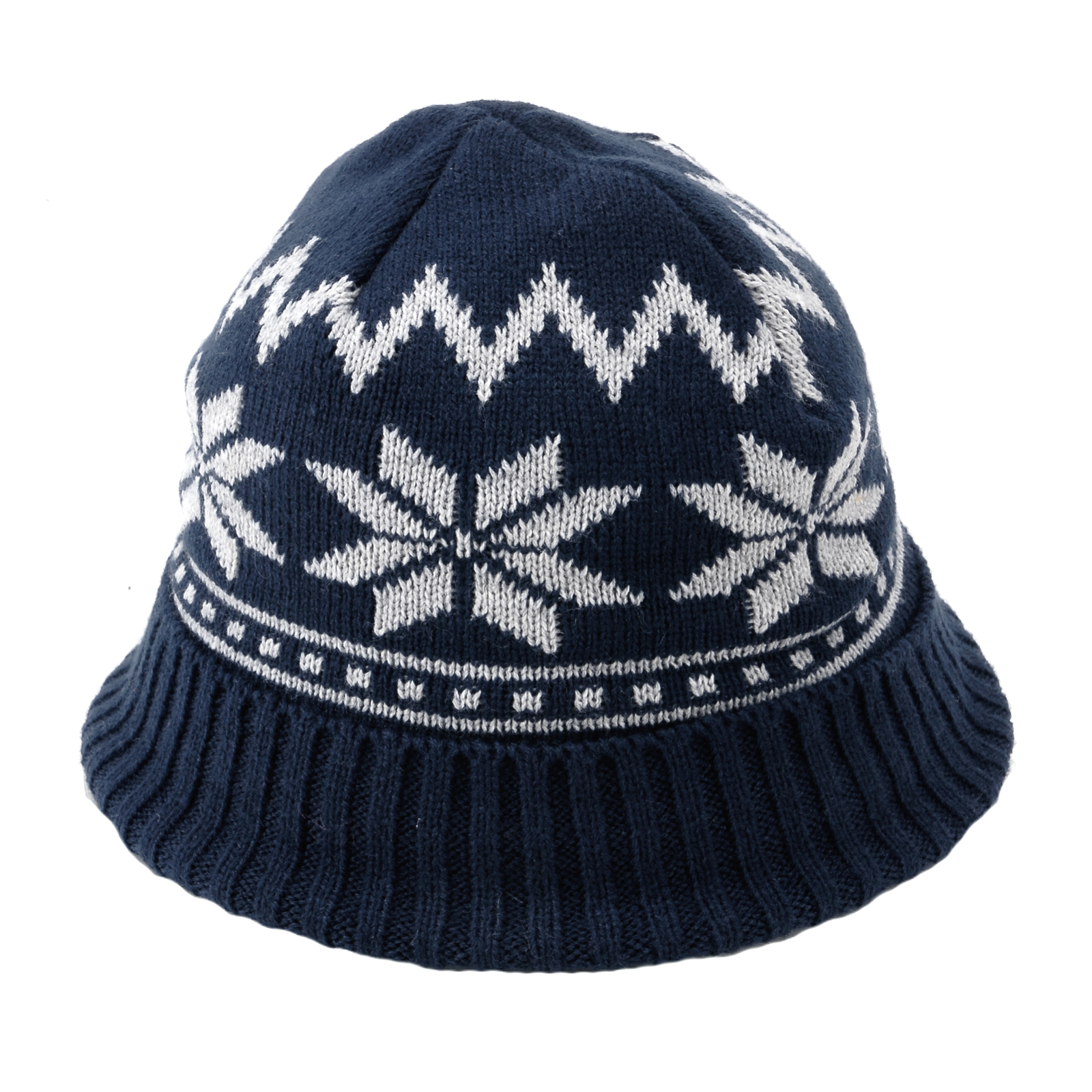 Mens Womens Christmas Beanie SKI BOBBLE Hat KNITTED WITH SNOWFLAKE 4 colours ...