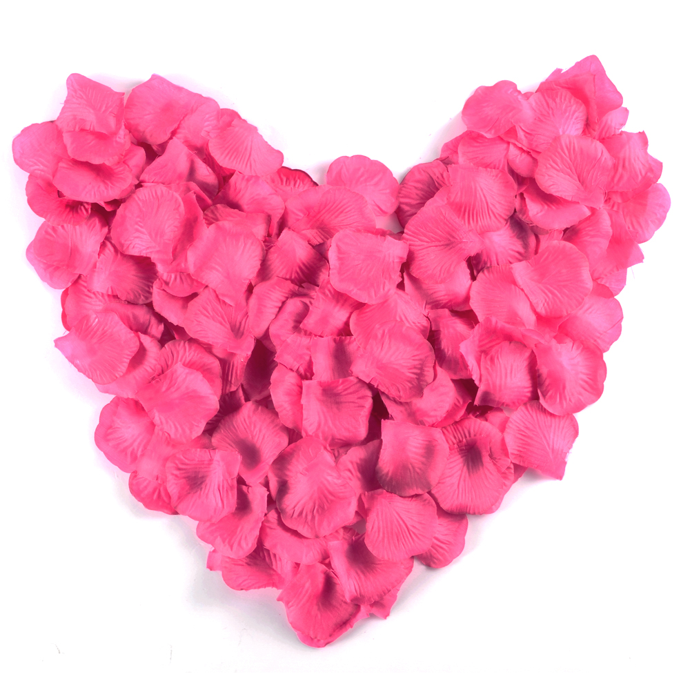 200x silk flower rose petals wedding party decorations. Black Bedroom Furniture Sets. Home Design Ideas