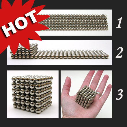 how to make a cube with magnetic balls
